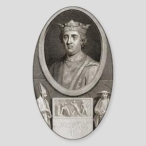 King Henry II of England Sticker (Oval)