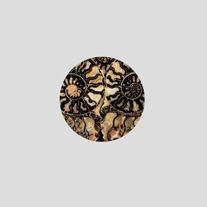 Fossil ammonites Mini Button