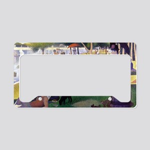 Georges Seurat License Plate Holder
