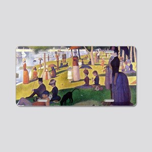 Georges Seurat Aluminum License Plate
