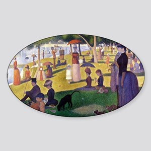 Georges Seurat Sticker (Oval)