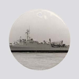 uss hermitage framed panel print Round Ornament