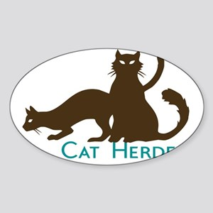 Cat Herder Sticker (Oval)