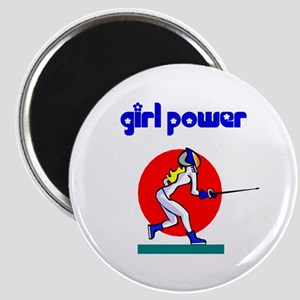 Girl Power Fencing Magnet
