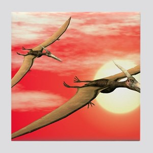 Flying pteranodons Tile Coaster