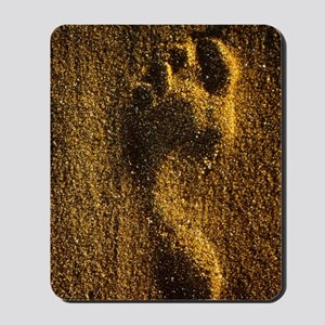 Footprint in sand Mousepad
