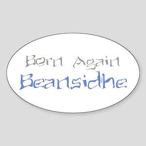 Born Again Beansidhe Oval Sticker
