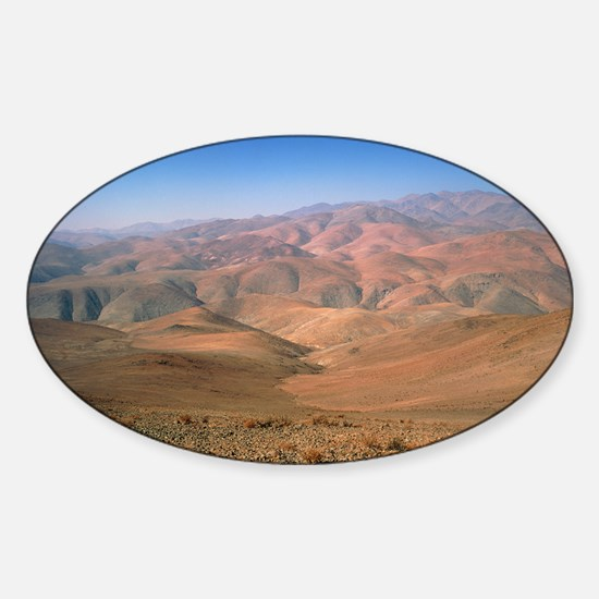 Foothills of the Andes, Atacama Des Sticker (Oval)