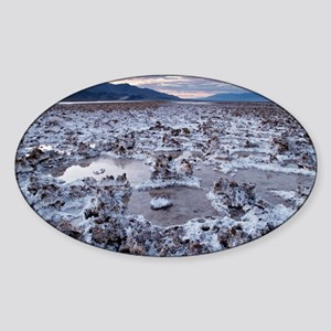 Flooded salt flat Sticker (Oval)