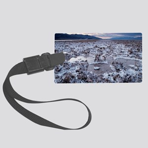 Flooded salt flat Large Luggage Tag