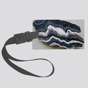 Folded strata in gneiss rock Large Luggage Tag