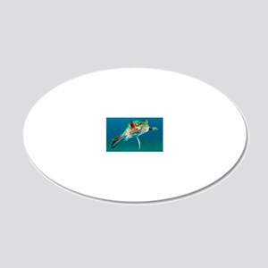 Flying gurnard in a fishing  20x12 Oval Wall Decal