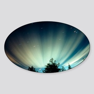 Fisheye lens photograph of the auro Sticker (Oval)