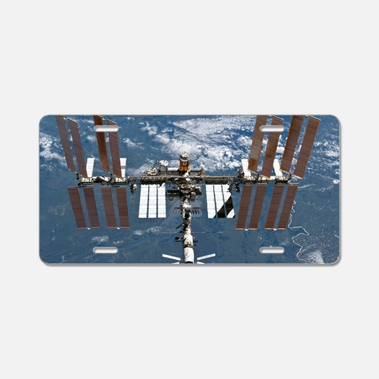 International Space Station Aluminum License Plate