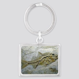 Fish fossil Landscape Keychain