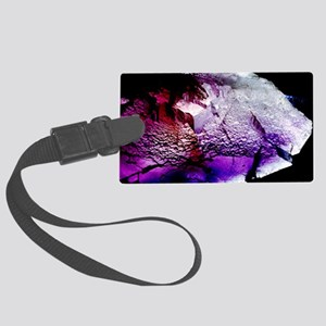 Fluorite cubic crystals Large Luggage Tag