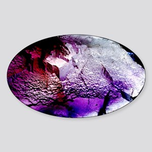 Fluorite cubic crystals Sticker (Oval)