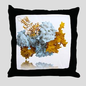 Influenza nucleoprotein, molecular mo Throw Pillow