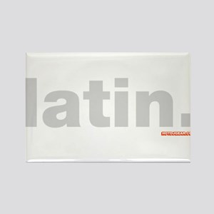 Latin. Rectangle Magnet