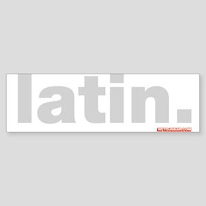 Latin. Sticker (Bumper)