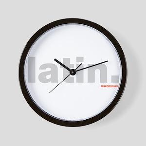 Latin. Wall Clock