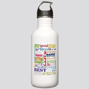 30th Birthday Typograp Stainless Water Bottle 1.0L