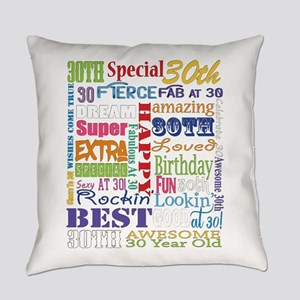 30th Birthday Typography Everyday Pillow
