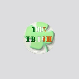 100% Irish Mini Button