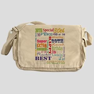 30th Birthday Typography Messenger Bag