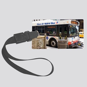 Hybrid bus in Chicago Large Luggage Tag