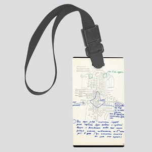 In-orbit medical report Large Luggage Tag