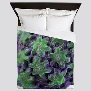 Human papilloma virus particle, artwor Queen Duvet