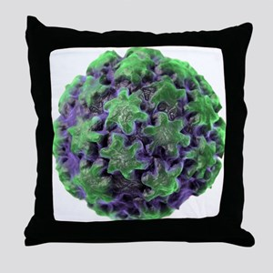 Human papilloma virus particle, artwo Throw Pillow