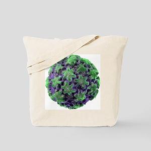 Human papilloma virus particle, artwork Tote Bag