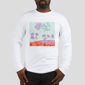Human immune response, artwork Long Sleeve T-Shirt