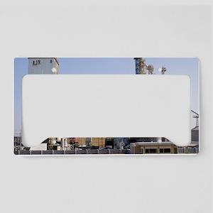 Factory on Mississippi River  License Plate Holder