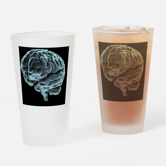 Human brain, artwork Drinking Glass