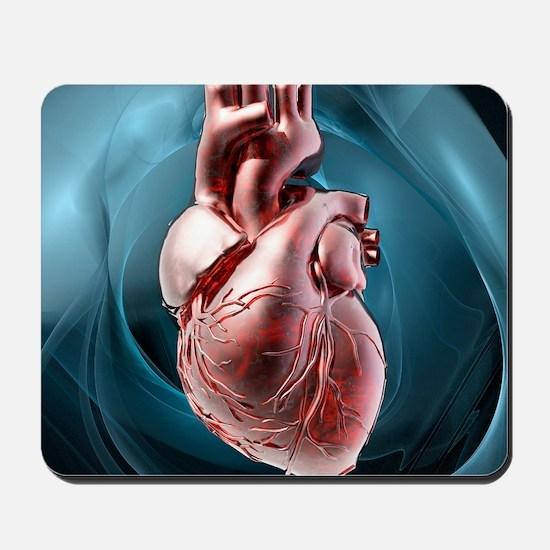 Human heart, artwork Mousepad
