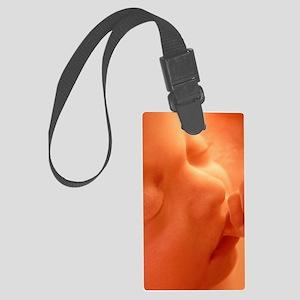Human foetus sucking its thumb,  Large Luggage Tag