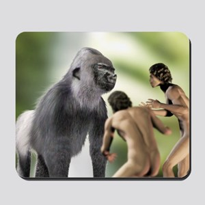 Extinct giant gorilla Mousepad