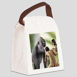 Extinct giant gorilla Canvas Lunch Bag