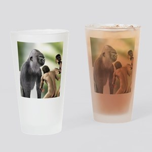 Extinct giant gorilla Drinking Glass