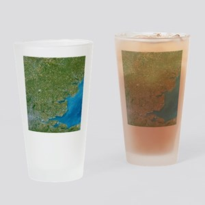 Essex, UK, satellite image Drinking Glass