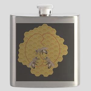 Honeybee dance, artwork Flask