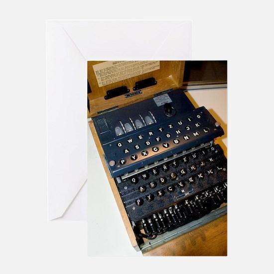 Enigma code machine Greeting Card