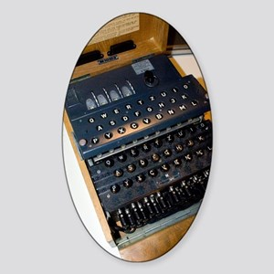 Enigma code machine Sticker (Oval)