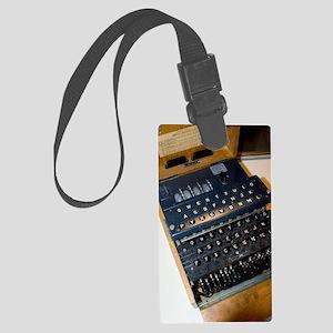 Enigma code machine Large Luggage Tag