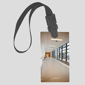 Hospital corridor Large Luggage Tag