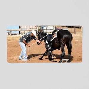 Horse trainin Aluminum License Plate