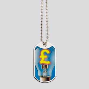 Energy costs, conceptual image Dog Tags